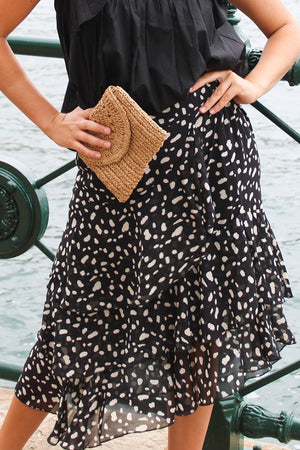 Jenny skirt Big Leopard Black