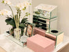 Glass Jewellery Box Pink