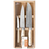 Laguiole 3pc Kitchen Knife Set White