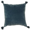 Boudoir Tassled Cushion Blue 50cm X 50cm