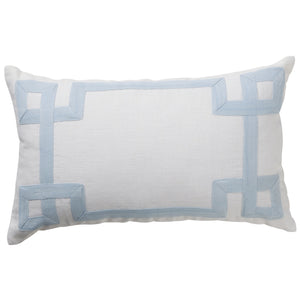Linen Modena Cushion Sky Blue Sand