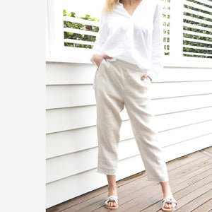 Marina Linen Pants Wheat