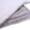 Luxurious Fleece Throw Grey