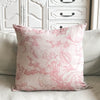 Linen Fantasy flower Large Print Cushion - Pink