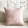 Linen Fantasy flower Small Print Cushion - Pink