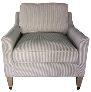 ARABELLA CLUB CHAIR NAVY AND WHITE STRIPE