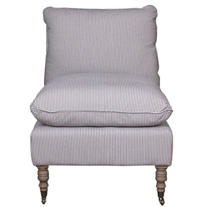 METROPOLE CLUB CHAIR NAVY AND WHITE