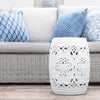 Chinoiserie Garden Stool White