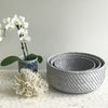 Rattan Fruit Basket Grey Wash Small