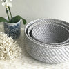 Rattan Fruit Basket Grey Wash Large