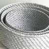 Rattan Fruit Basket Medium Grey Wash