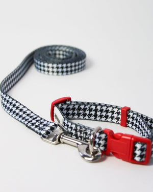 Houndstooth Print Collar and Lead Small
