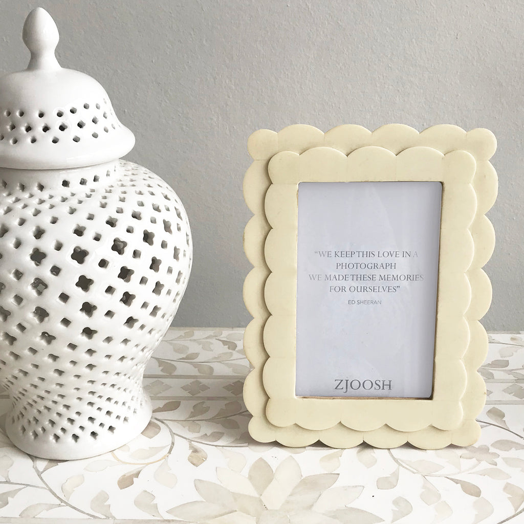 Wave Bone Photo Frame 4x6