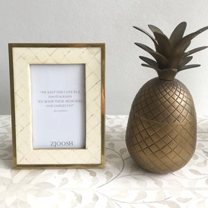Bone And Gold Photo Frame 5x7