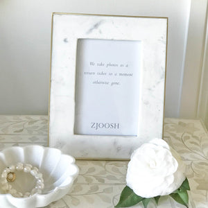 Marble Photo Frame Brass Edge 5x7