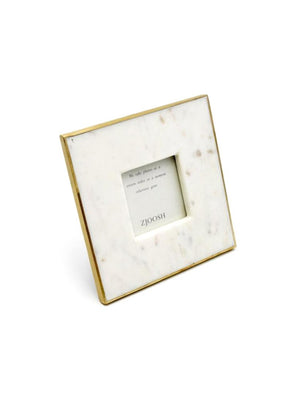 Marble Photo Frame Brass Edge 3x3