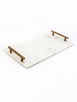 Marble Tray with Handles Large