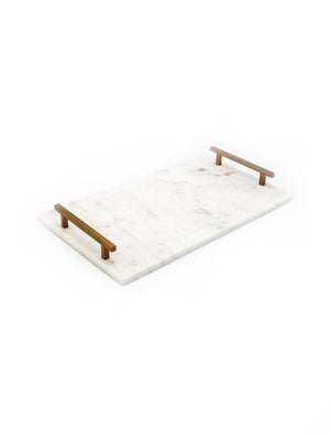 Marble Tray with Handles Small