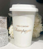 May Contain Champagne Travel Mug White 250ML