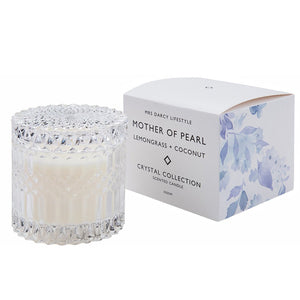 Mother of Pearl Crystal Candle 350g