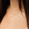 Hanging Gold Rhombus Necklace