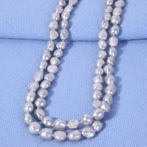 Baroque Freshwater Pearl Strand Grey