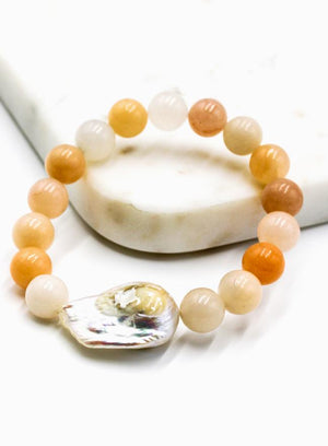 Natural Stone and Pearl Bracelet Natural