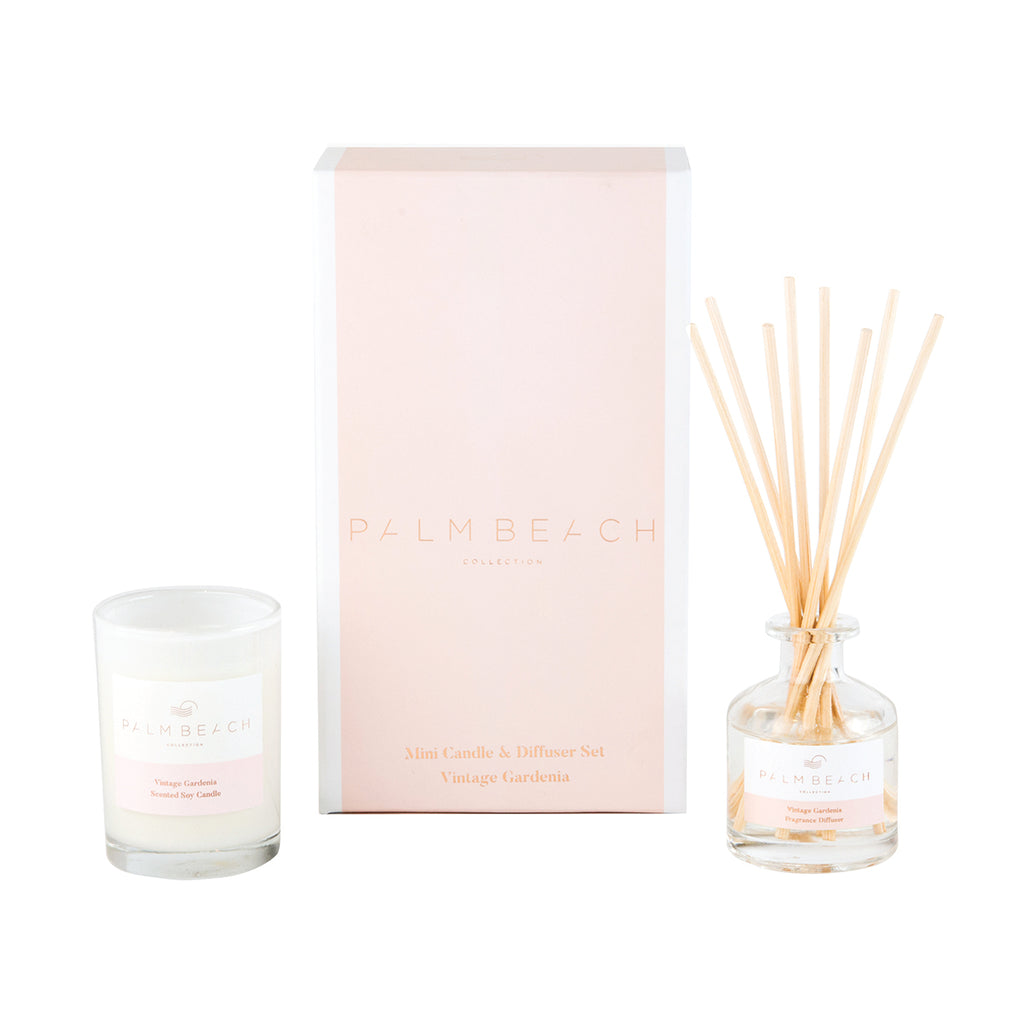 Palm Beach - Vintage Gardenia - Mini Candle and Diffuser