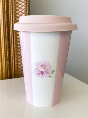 Peony Stripe Travel Mug 250ML