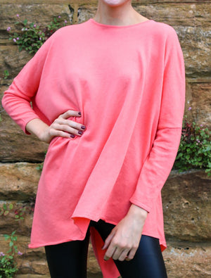 Poncho Jumper Coral