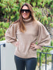 Poppy Puff Sleeve Sweater Camel