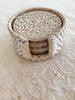 Rattan Coaster Set White Wash