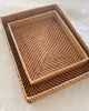 Rattan Rectangle Tray Natural Large