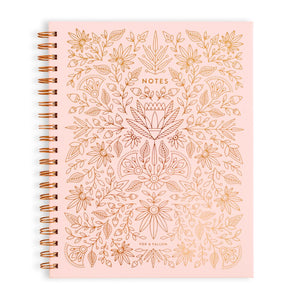 Rose Quartz Spiral Notebook - Large