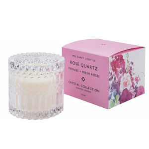 Rose Quartz Crystal Candle 350g