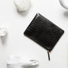 Fake It Wallet - Black Moc Croc