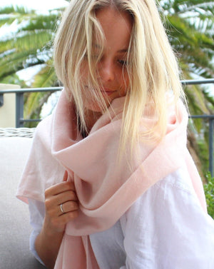 Cashmere Scarf Pink