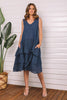 Dress Vicenza W Ruffle Marine