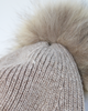 The Jodie Beanie with Fur Pom Pom Mocha
