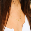 Gold Hanging Disk Necklace