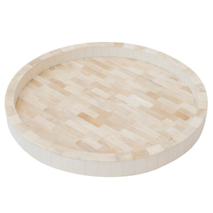 Round Bone Tray Tiles Cream