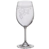 Mont Marte Etched Red Wine Glass