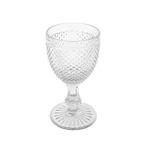 HONEYCOMB WINE GLASS CLEAR