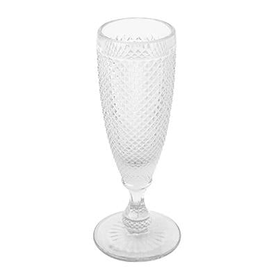 HONEYCOMB CHAMPAGNE FLUTE CLEAR