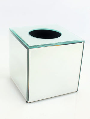 Mirrored Tissue Box Cover Small
