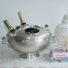 Lidded 4 Bottle Bucket Pewter