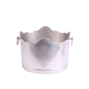 Wave Rimmed Engraved Bucket Pewter
