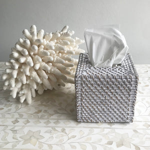 Rattan Tissue Box Square