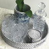 Rattan Coaster Set of 6 Grey Wash