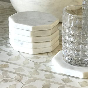 Octagonal Marble Coasters S6